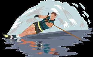 waterski schets voorbeeld als logo