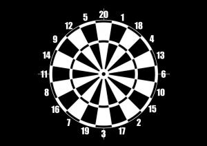 voorbeeld dartboard logo